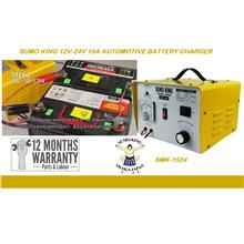 Sumo King 12V-24V 15A Automotive Battery Charger