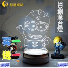 Minion Hello Kitty Doraemon Unicorn Reindeer Cartoon LED Night Light
