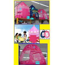 Khemah Portable Folding Kids Play Tent - Blue Castle Cubby House $ RM