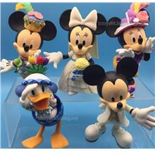 Disney Mickey Mouse Minnie Donald Duck & Friends Figures. Large Set
