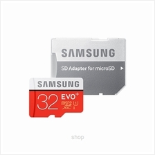 Samsung 32GB EVO Plus microSDHC Card Class 10 80mb/s with Adapter)