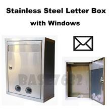 Large Stainless Steel Window Hole Letter Mail Box LetterBox 1954.1