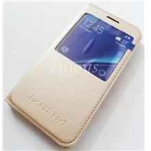 GOLD Auto Wake S View Function Cover Case Oppo Neo 7 / A33 (5.0) *XPD