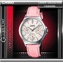 CASIO LTP-V300L-4A LADIES MULTI-HAND WATCH ☑ORIGINA