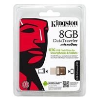 KINGSTON 8GB DATA TRAVELER MICRO DUO OTG USB FLASH DRIVE (DTDUO/8GB)