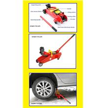 2 Ton Heavy Duty Hydraulic Floor Jack  High Lift Trolley Jack $ RM 99