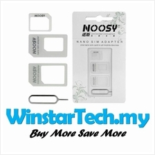 Noosy Convert Nano to Micro or Standard 4-in-1 SIM Card Adapter Set