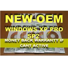 100% Genuine - Windows xp professional OEM SP2 Complete Set