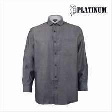 PLATINUM BIG SIZE Mix & Match Microfiber Shirt PM9143 (Grey)