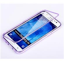 Samsung Galaxy J5 J7 Transparent Flip Case Cover Casing + Free Gift