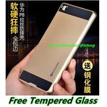 Huawei P8 / Lite 360 Protection Back Case Cover Casing +Tempered Glass