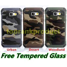 Samsung Galaxy A3 A5 A7 2016 Back Case Cover Casing + Tempered Glass
