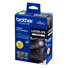 GENUINE BROTHER LC-67 TWIN BLACK INK CARTRIDGE **NEW**SEALED BOX