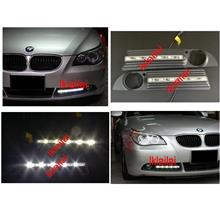 BMW 5 Series E60 DRL LED Fog Lamp Chrome Cover ABS Daylight