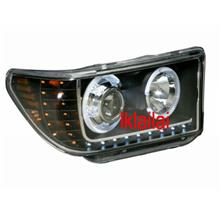 Toyota Tundra 07 LED Ring Projector Head Lamp With LED Corner + R8 DRL