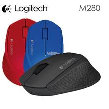 Logitech M280 Wireless 2.4 GHz Optical Mouse Black Red Blue