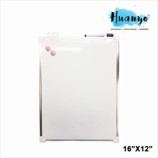 Double Sided Portable Magnetic White Board (16'' X 12'' / 40 X 30 CM)
