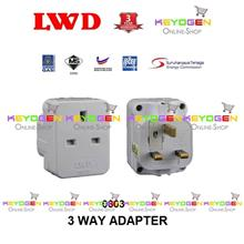 SIRIM Certified LWD 0603 3-Way Surge Protector Plug Adapter
