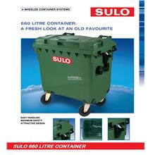 Sulo 660 Litre Wheeled Garbage Container Bin (Germany)