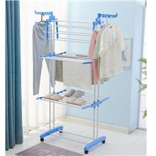 3 tier Garment Rack Stainless Steel Clothes Hanger