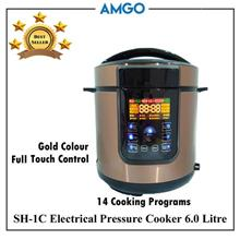 AMGO SH-1C Electric Pressure Cooker 6L [14 Cooking Programs](1000W)