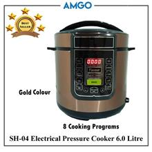 AMGO SH-04 Electric Pressure Cooker 6L [8 Cooking Programs] (1000W)