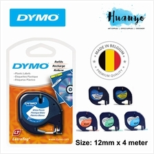 Dymo LetraTag Label Maker Tape Refill 12mm x 4m