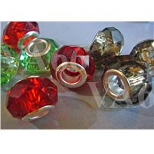 Murano Style Plastic Crystal Cut Bead Big Hole Beads Fits Pendora