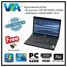 Refurbished Laptop Hp ProBook 4510s~2GB~160GB~Win7 Pro