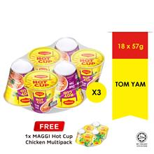 MAGGI Hot Cup Tom Yam 6 Cup , Buy 3 Free1 Hot Cup Chicken 6 Cup)