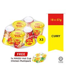 MAGGI Hot Cup Curry 6 Cup , Buy 3 Free1 Hot Cup Chicken 6 Cup)
