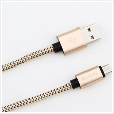Micro USB Cable Nylon Braided Wire Fast Charge Data 1.2M Cable for Samsung Xia