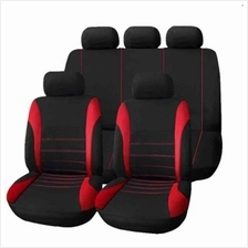 T21620 UNIVERSAL 9 SET CAR SEAT COVERS MESH SPONGE INTERIOR ACCESSORIES FULL C