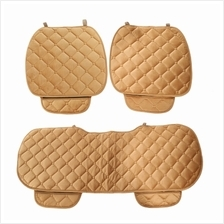 Universal Winter Automobile Seating Mats Car Seat Pads 3pcs (KHAKI)