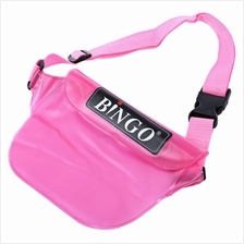 BINGO WP031 PVC 20M WATERPROOF WAIST PACK BAG POUCH WITH STRAP (LIGHT RED)