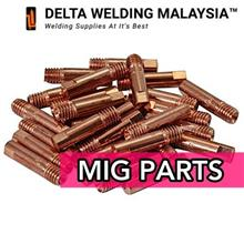 10 pcs OF DELTA WELDING MALAYSIA CONTACT TIP (0.8MM)