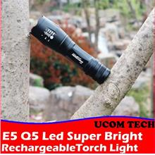E5 Q5 Led Super Bright Torch Light Rechargeable Torchlight Torch Light