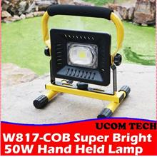 W817-COB Super Bright 50W Hand Held Lamp, Rechargeable Torchlight Spot