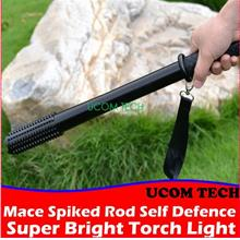 Mace Spiked Rod Self Defence Super Bright Torch Light Led Rechargeable