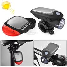 2 PCS 3W 240LM USB Solar Energy Motorcycle / Bicycle Light Set