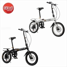 16 Inch Folding Speed Bicycle Double Disc Brake Shock Absorber Bike