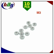 10pcs M3 Hex Nuts Stainless Steel