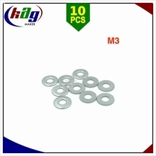 10pcs M3 Flat Washer Stainless Steel