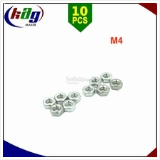 10pcs M4 Hex Nuts Stainless Steel