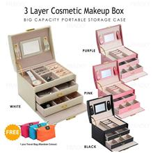 3 Layer Cosmetic Makeup Organizer Tools Box Jewelry Storage Case 1111