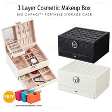 3 Layer Cosmetic Makeup Organizer Box Jewelry Storage Case 1153