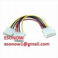 4-Pin Molex Y-Splitter Power Supply Cable (1 to 2), 20cm