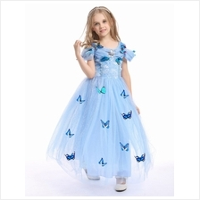 Disney Cinderella Elegance Dress with butterfly_BLUE