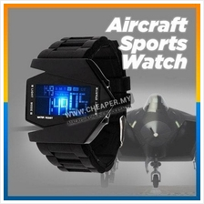 Unisex LED Watches Silicone Rubber Quartz Watches Clock Aircraft Sport