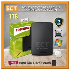 Toshiba Canvio Basics 1TB USB 3.0 Portable External Hard Disk Drive -
